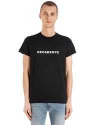 Maison Labiche Decadence Heavy Cotton Jersey T Shirt Black