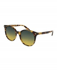 Gucci Round Gradient Acetate Sunglasses Brown Havana