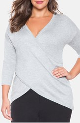 Plus Size Women's Eloquii Crossover Front Sweater