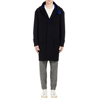 Double Faced Hooded Duffle Coat Navy