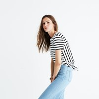 Madewell Striped Tie Back Tee Bright Ivory