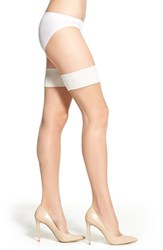 Women's Charnos 'Smooth' Thigh High Stay Up Stockings Champagne Ivory