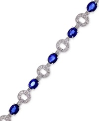 Effy Collection Royale Bleu By Effy Sapphire 5 1 8 Ct. T.W. And Diamond 1 3 Ct. T.W. Bracelet In 14K White Gold