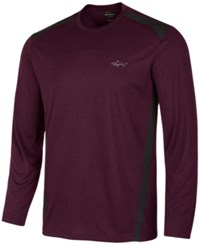 Greg Norman For Tasso Elba Men's Pieced Performance Long Sleeve T Shirt Created For Macy's Brght Crim Tpd