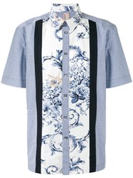 Antonio Marras Floral Checkered Shirt Blue