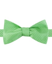 Tommy Hilfiger Men's Nantucket Pindot To Tie Bow Tie Lime