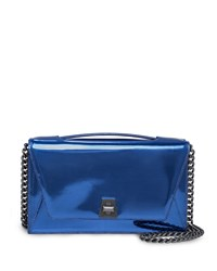 Anouk City Leather Envelope Clutch Bag Pacific Metallic Akris