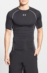 Men's Under Armour Heatgear Compression T Shirt Black Steel