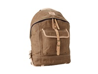 Will Leather Goods Wax Canvas Dome Backpack Khaki Backpack Bags