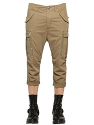 Diesel Black Gold 17Cm Stretch Cotton Canvas Cargo Pants