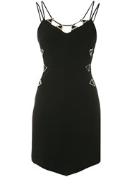 David Koma Metal Neckline Dress Black