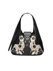 Gucci Dionysus Embroidered Large Leather Hobo Women Leather Metal Microfibre One Size Black