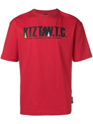 Ktz Mountain Letter T Shirt Red