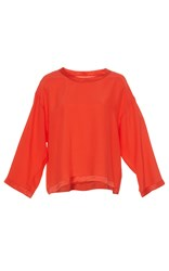 Alexis Mabille Silk Relaxed Fit Top Coral