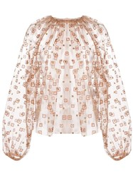 Rachel Comey Sheer Gathered Neck Blouse 60