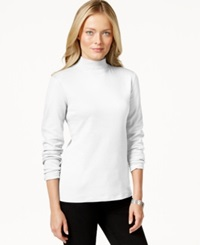 Charter Club Long Sleeve Mock Turtleneck Only At Macy's Bright White