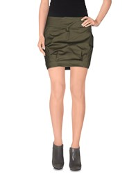 Versace Jeans Couture Skirts Mini Skirts Women Military Green
