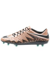 Nike Performance Hypervenom Phinish Fg Football Boots Metallic Red Bronze Black Green Glow White Copper