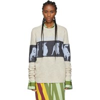 J.W.Anderson Jw Anderson Off White Jacquard Animal Sweater