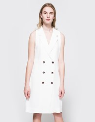 Stelen Lou Sleeveless Trench White