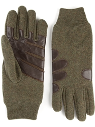 Maison Martin Margiela Applique Detail Gloves Green