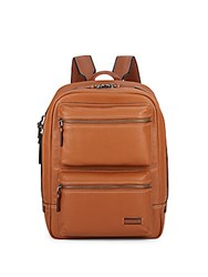 Tumi Bryant Leather Backpack Tan