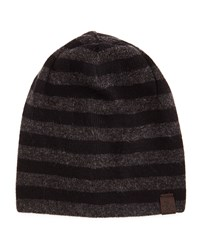 Penguin Ashmore Striped Beanie Hat Black