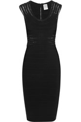 Herve Leger Embellished Bandage Dress Black