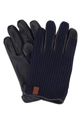 Ben Sherman Men's Original Penguin Knit And Leather Driving Gloves