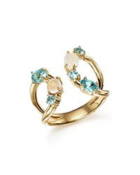 Ippolita 18K Yellow Gold Rock Candy Mixed Stone Ring In Raindrop Blue Gold