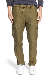 Men's Scotch And Soda Relaxed Tapered Fit Cargo Pants Army