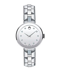 Movado Ladies Sapphire Watch Silver