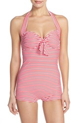 Women's Seafolly 'Riviera' Halter One Piece Swimsuit Chilli Red