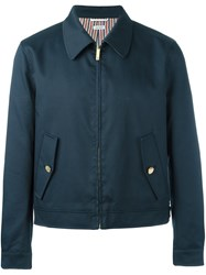 Thom Browne Zip Up Sport Jacket Blue