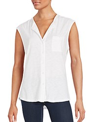James Perse Hi Lo Top White