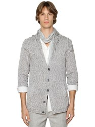 John Varvatos Cable Knit Cotton Cardigan