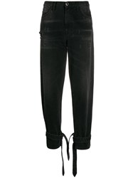 Pinko High Waisted Carrot Fit Jeans Black