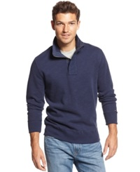 Tommy Hilfiger Big And Tall Porter Quarter Zip Pullover Peacoat