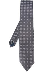 Pal Zileri Printed Tie Grey