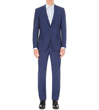 Richard James Twill Weave Wool And Mohair Blend Suit Blue