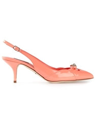 Dolce And Gabbana 'Bellucci K' Slingback Pumps Pink And Purple