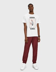 Wood Wood Robby Trousers In Dark Red