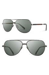 Shwood Men's 'Redmond' 56Mm Titanium And Wood Sunglasses