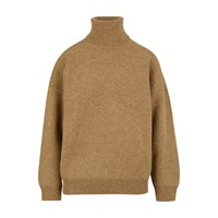 Celine Double Faced Virgin Wool And Cashmere Roll Neck Jumper Sand