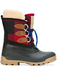 Dsquared2 Tartan Effect Duck Boots Multicolour