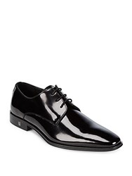 Versace Lace Up Leather Derby Dress Shoes Black