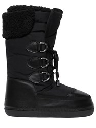 Dsquared Nylon And Leather Snow Boots