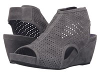 Vaneli Inez Grey Suede Gunmetal Studs Women's Wedge Shoes Gray