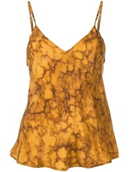 Mes Demoiselles Marbled Effect Slip Top Brown