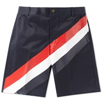 Thom Browne Diagonal Stripe Chino Short Blue